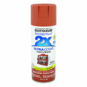 Rust-Oleum  Painter's Touch Ultra Cover  Satin  Cinnamon  Spray Paint  12 oz.