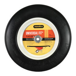 Marathon  Universal Fit  8 in. Dia. x 14.5 in. Dia. 300 lb. capacity Centered  Wheelbarrow Tire  Pol