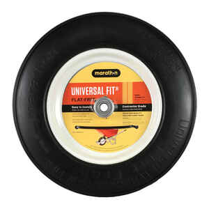 Marathon  8 in. Dia. x 14.5 in. Dia. 300 lb. capacity Centered  Wheelbarrow Tire  Polyurethane
