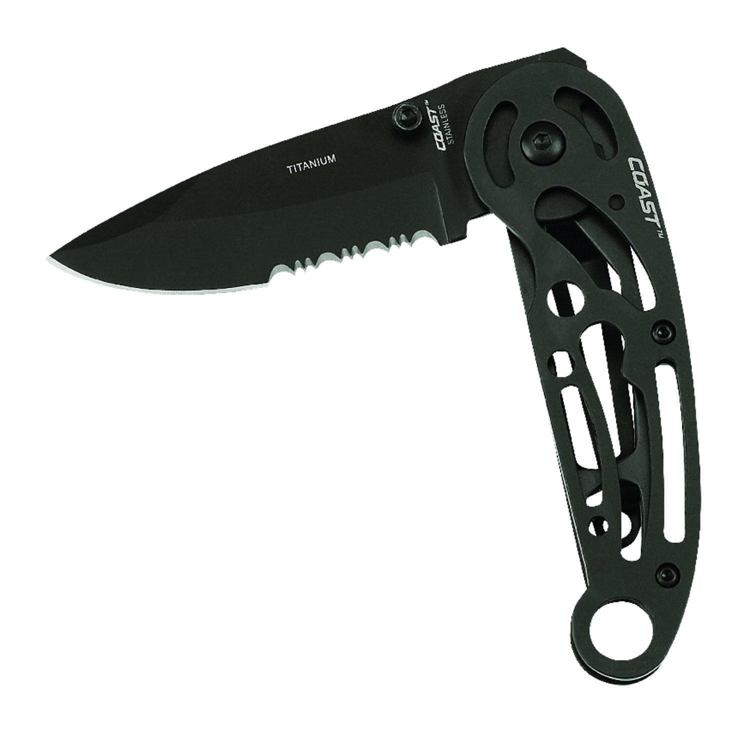 Coast  LX240  Black  Stainless Steel  6.87 in. Knife
