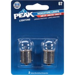Peak  Incandescent  Miniature Automotive Bulb  67