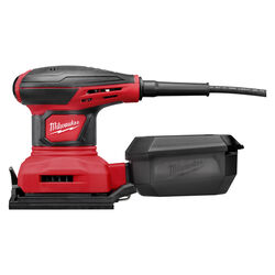 Milwaukee  4-1/4 in. Corded  Palm Sander  Kit 3 amps 120 volt 14000 opm Red