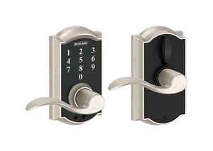 Schlage  Satin Nickel  Steel  Electric Touch Screen Entry Lock
