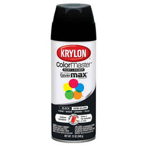 Krylon  ColorMaster  Semi-Gloss  Black  Spray Paint  12 oz.