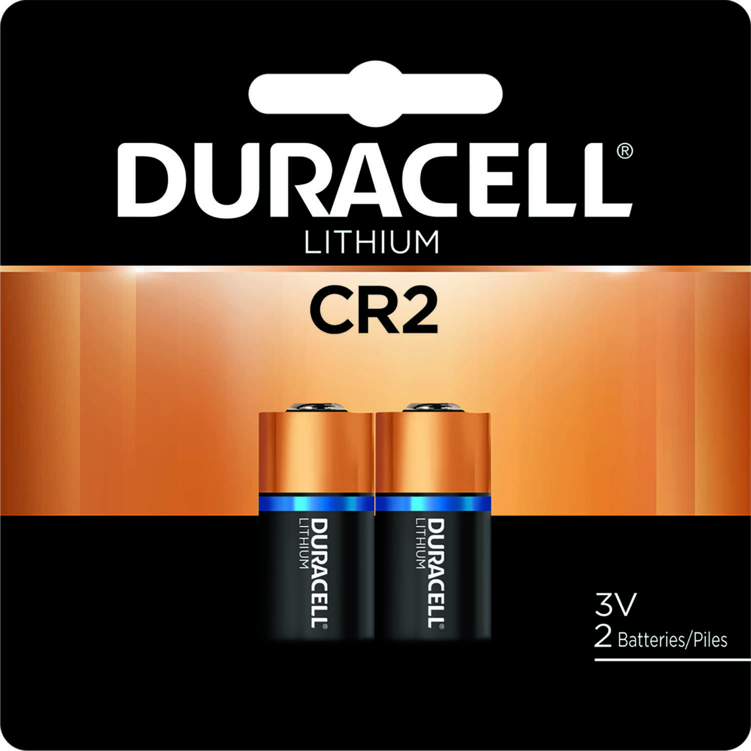 Duracell  Lithium  3 volt DLCR2B2PK  CR2  Camera Battery  2 pk