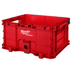 Milwaukee PACKOUT 9.9 in. H x 18.6 in. W x 15 in. D Stackable Crate