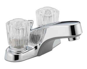 Peerless  Core  Two Handle  Lavatory Faucet  4 in. Chrome
