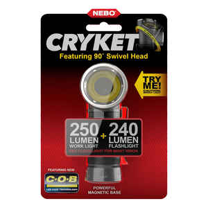 Nebo  Cryket  240 lumens Black  LED  COB Flashlight  AAA Battery