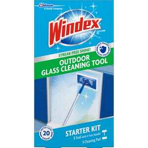 Windex  Outdoor All-In-One  No Scent Glass Cleaner Starter Kit  1 pk Wipes