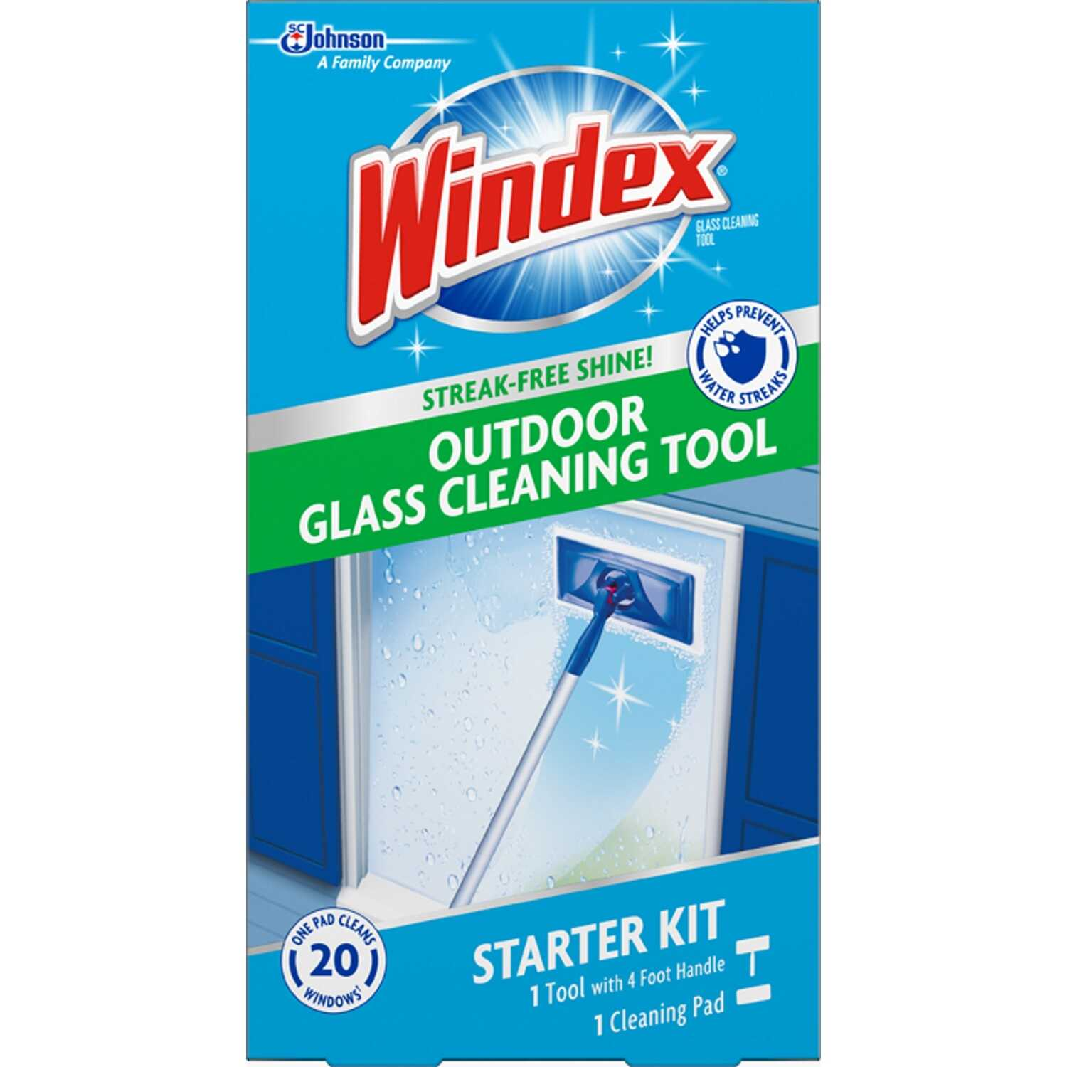 Windex Outdoor All In One No Scent Glass Cleaner Starter Kit 1 Pk Wipes