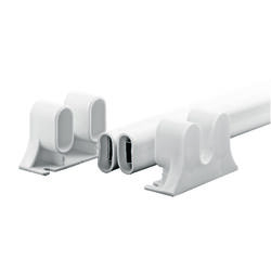 Prime-Line White Steel Push Plate 1 pc.