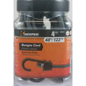 Keeper  Gray  Bungee Cord  48 in. L x 0.374 in.  1 pk