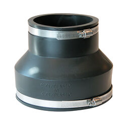 Fernco Schedule 40 6 in. Hub x 4 in. Dia. Hub PVC Flexible Coupling
