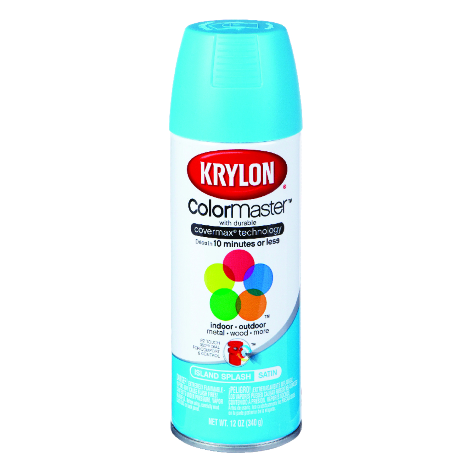 Krylon  ColorMaster  Satin  Spray Paint  12 oz. Island Splash