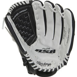 Rawlings  RSB Series  Black/Gray  Leather  Right-handed  Baseball Glove  13 in.  1 pk