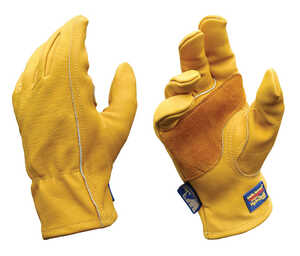 Wells Lamont  Men's  Cowhide Leather  Heavy Duty  Work Gloves  Gold  L
