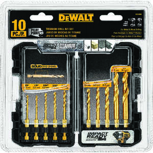 DeWalt  Titanium  Multi Size in. Dia. x Multi-Size  L High Speed Steel  Drill Bit Set  Quick-Change