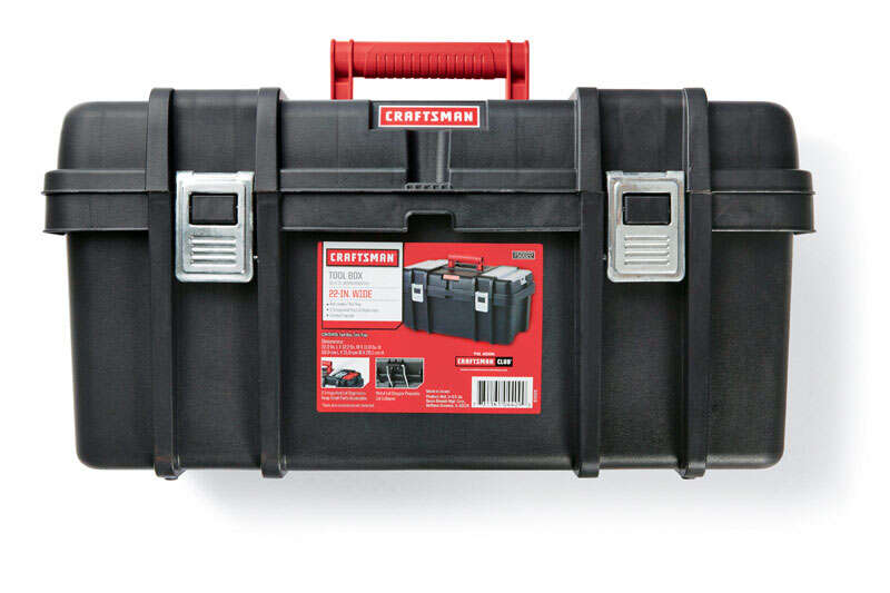 Craftsman  7 in. W x 11.2 in. H Poly Resin  22 in. Toolbox  Black