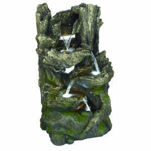 Bond  Polyresin/Stone  Brown  25 in. H Fountain