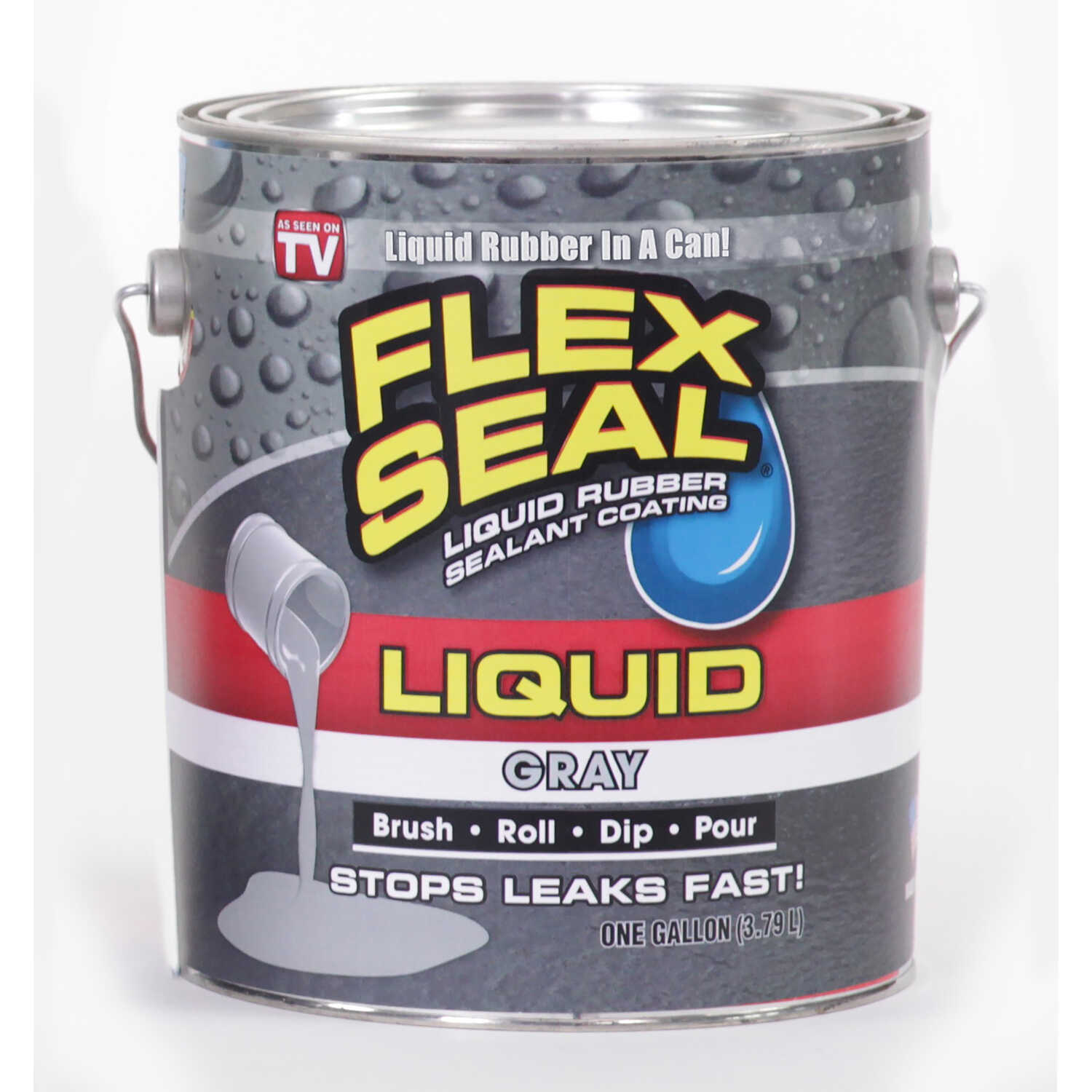 Flex Seal As Seen On Tv Satin Gray 1 Gal Liquid Rubber