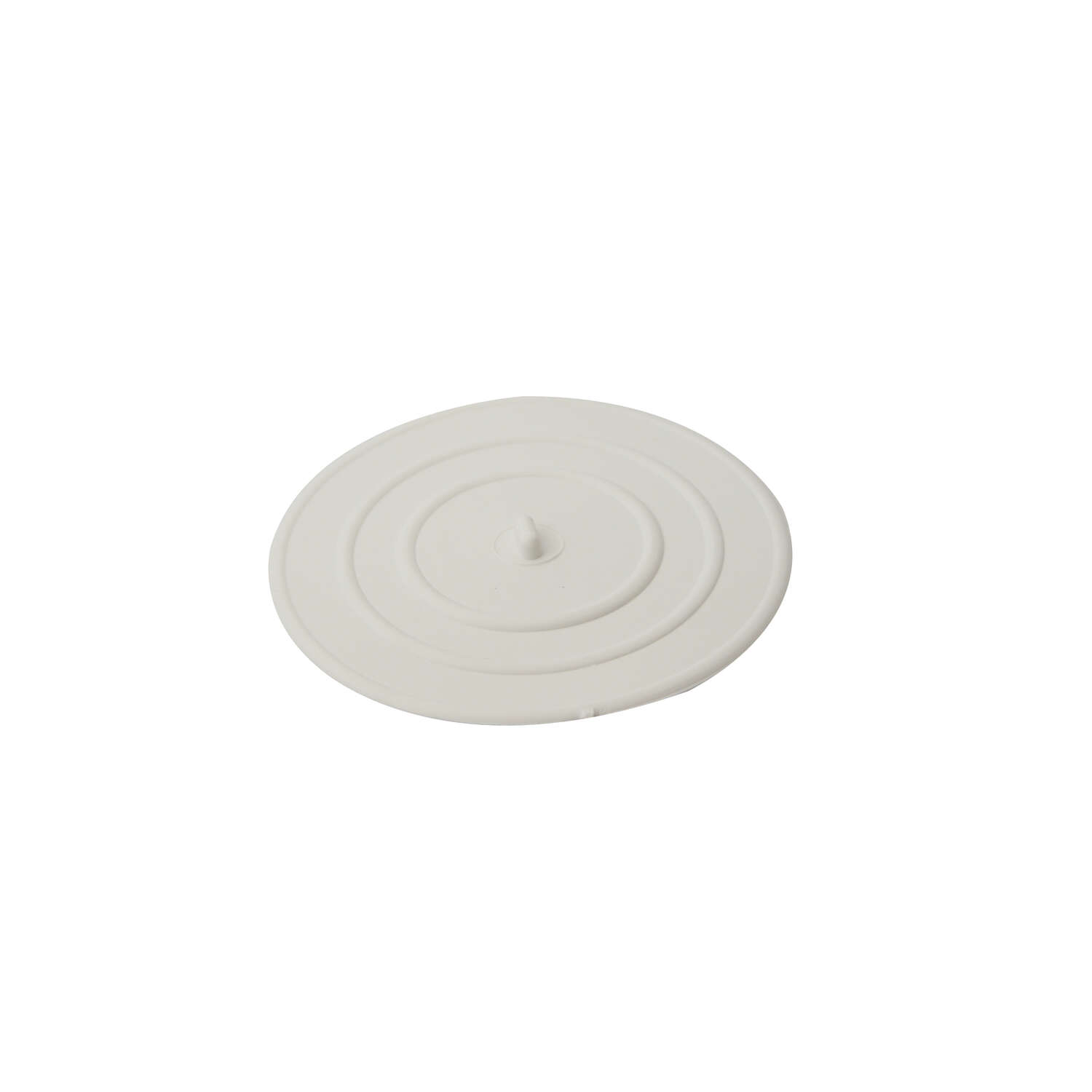 Ace  4-1/2 in. Dia. Drain Stopper  Rubber  Nickel Plated