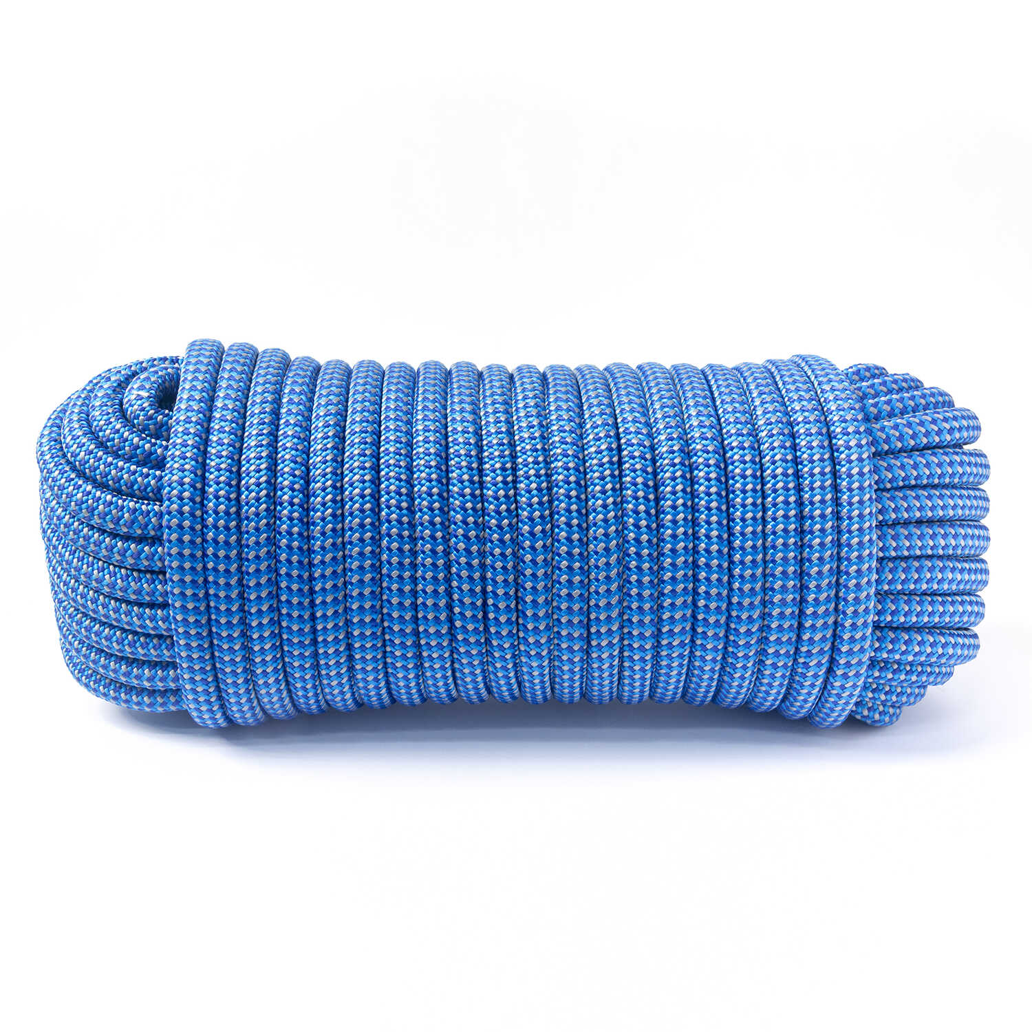 Ace  1/2 in. Dia. x 100 ft. L Blue  Diamond Braided  Poly  Rope