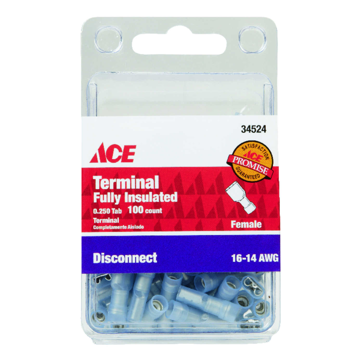 Ace Insulated Wire Female Disconnect 100 pk - Ace Hardware
