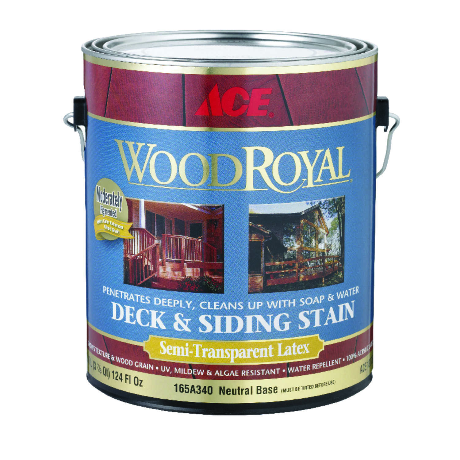 Ace  Wood Royal  Semi-Transparent  Tintable Neutral base  Tint Base  Acrylic  Deck and Siding Stain