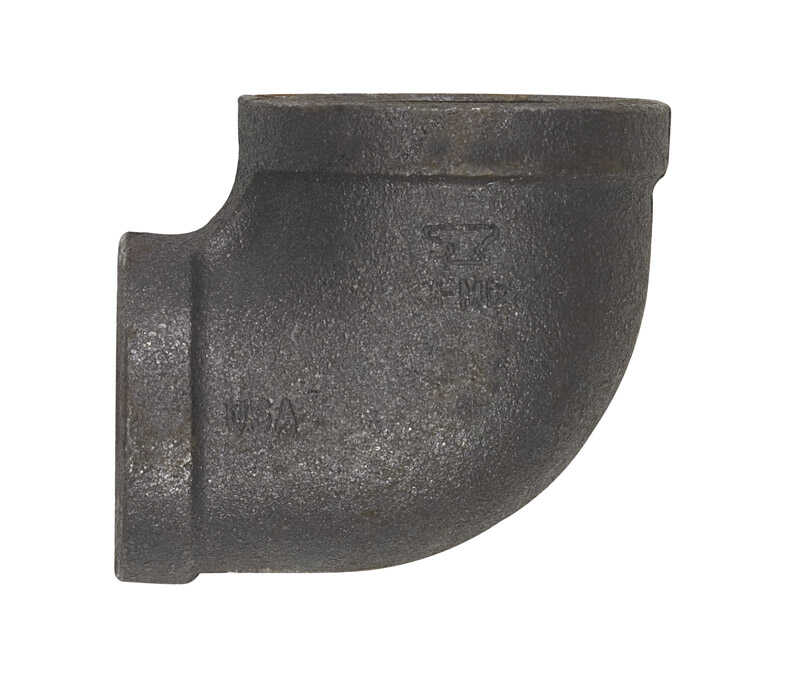 Anvil  1-1/4 in. FPT   x 1 in. Dia. FPT  Black  Malleable Iron  Elbow