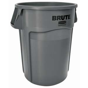 Rubbermaid Commercial  BRUTE  44 gal. Plastic  Brute Refuse Can