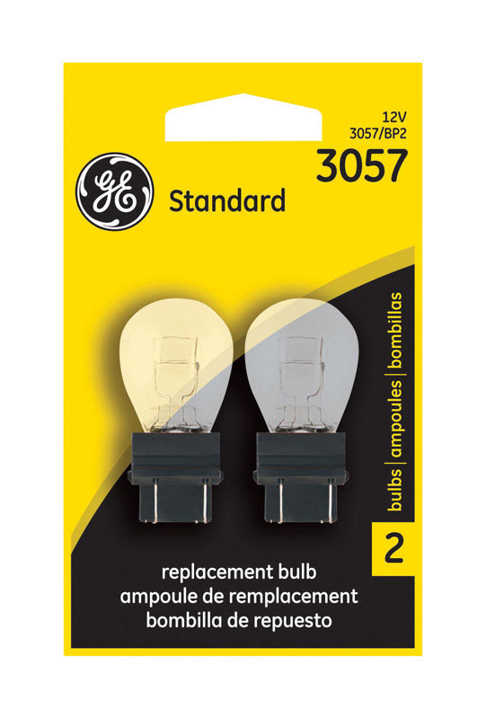 GE Miniature Lamps 3057BP For Turn Signal, Stop, Tail and Parking 12 volts 2 Carded