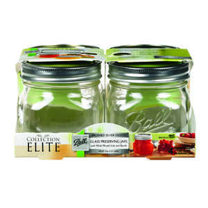 Ball  Collection Elite  Wide Mouth  Canning Jar  1 pt. 4 pk