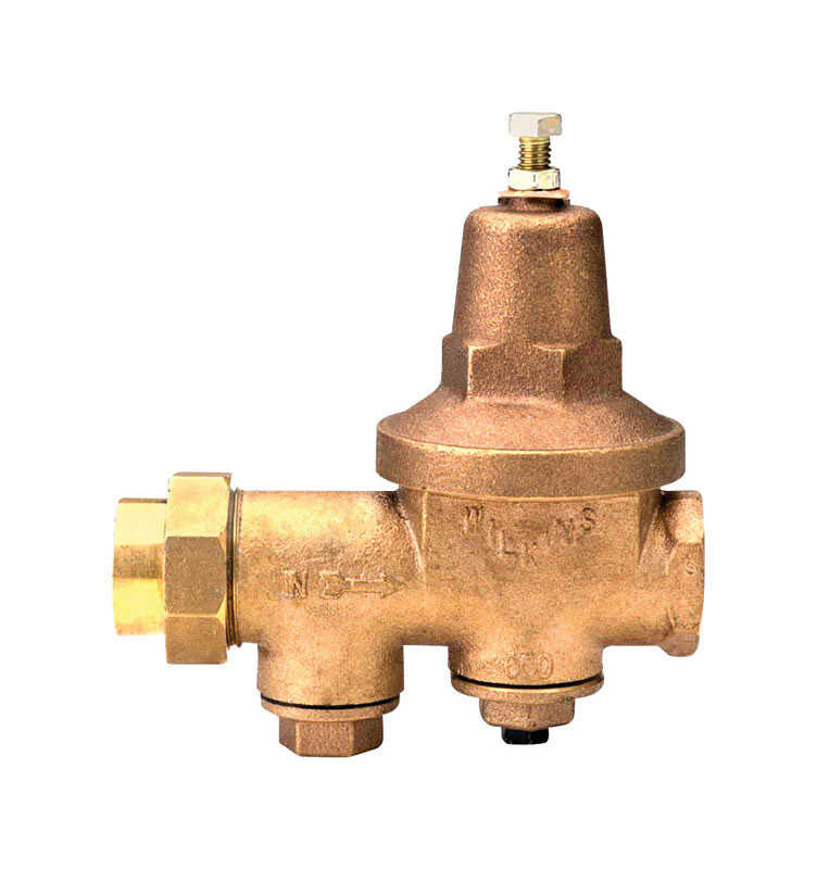 Zurn  Wilkins  1-1/4 in. FNPT Union  Water Pressure Regulator Valves