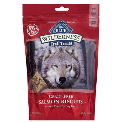 Blue Buffalo  Blue Wilderness  Salmon Biscuits  Grain Free Treats  For Dog 10 oz. 1 pk