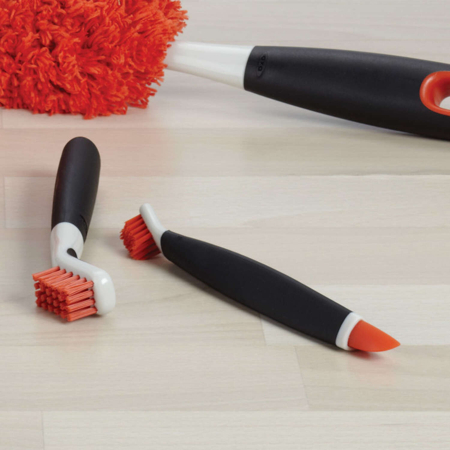 OXO  Good Grips  1 in. W Plastic/Rubber  Deep Clean Brush Set