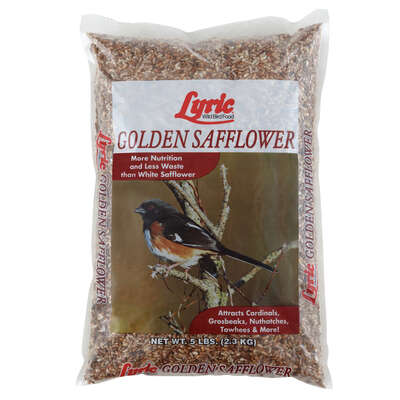 Lyric Assorted Species Safflower Seeds Wild Bird Food 5 lb.