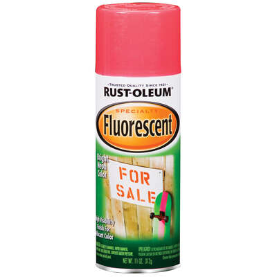 Rust-Oleum  Specialty  Fluorescent Pink  Spray Paint  11 oz.