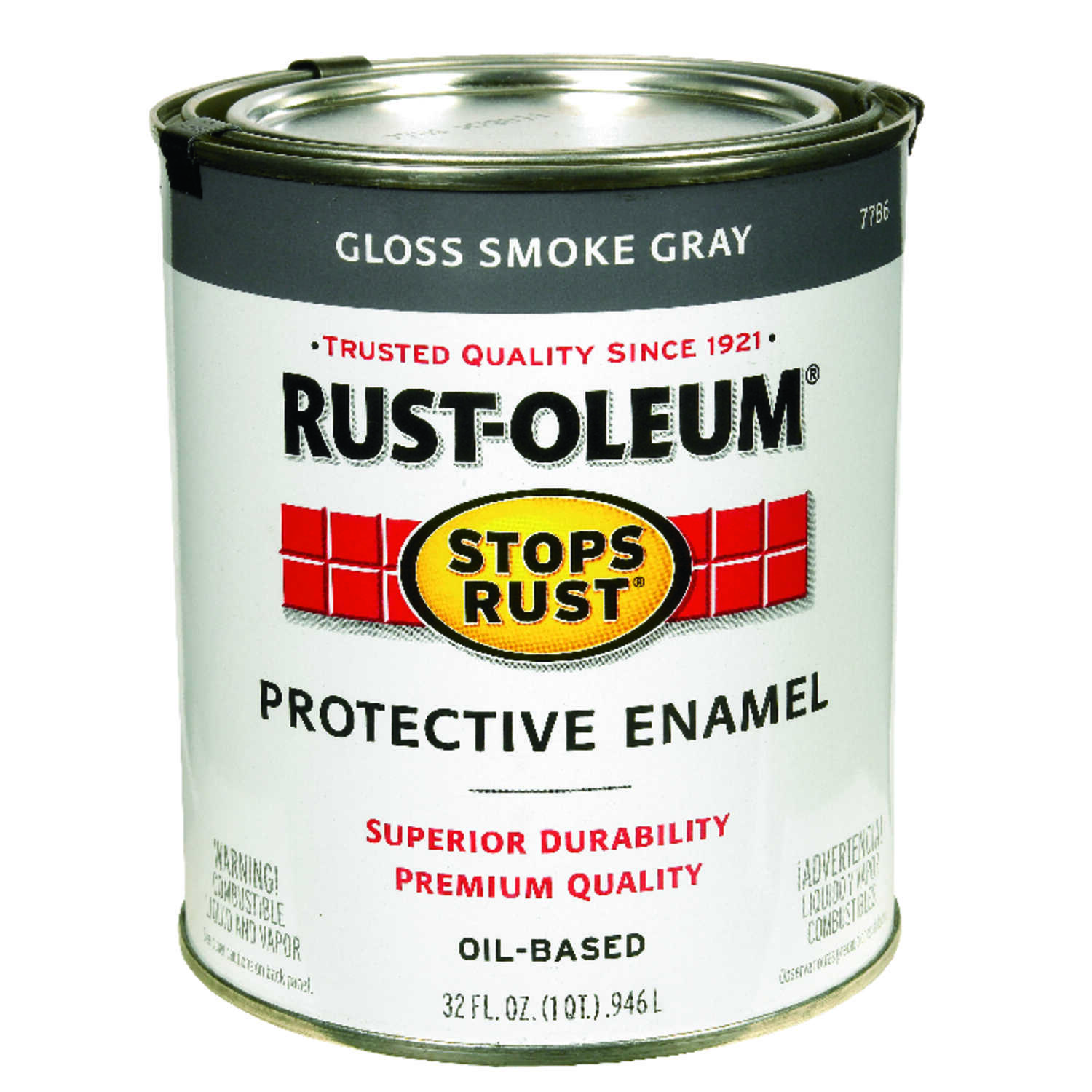 Rust-Oleum  Gloss  Smoke Gray  Indoor and Outdoor  Protective Enamel  1 qt.