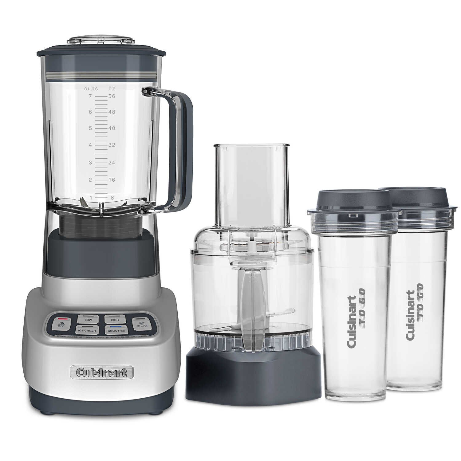 Cuisinart  Velocity  Gray  Plastic  Blender and Food Processor  56 oz. 3 speed