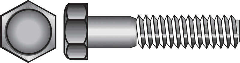 Hillman  1/4 in. Dia. x 3 in. L Zinc Plated  Steel  Hex Bolt  100 pk