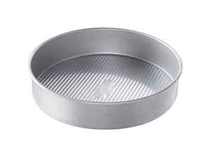 USA Pan  9 in. W x 9 in. L Round Cake Pan  Silver