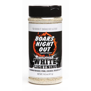 Boar's Night Out  White Lightning  BBQ Seasoning  14.5 oz.