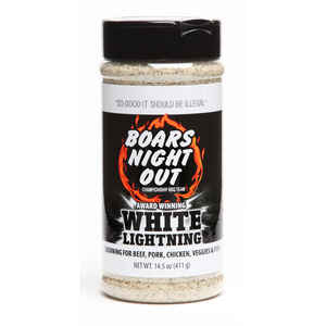 Boar's Night Out  White Lightning  Seasoning  BBQ Seasoning  14.5 oz.
