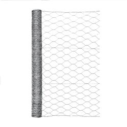 Garden Zone  36 in. H x 50 ft. L 20 Ga. Silver  Poultry Netting