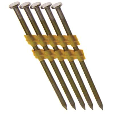 Grip-Rite  3 in. 10 Ga. Angled Strip  Framing Nails  21 deg. Smooth Shank  1000 pk