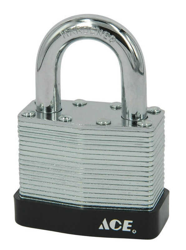Ace  1-3/8 in. H x 1-3/4 in. W x 1-1/16 in. L Double Locking  Padlock  Steel  1 pk