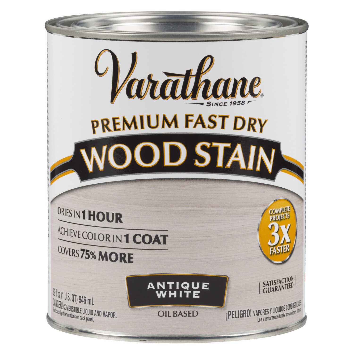 Varathane  Premium Fast Dry  Semi-Transparent  Antique White  Wood Stain  1 qt.