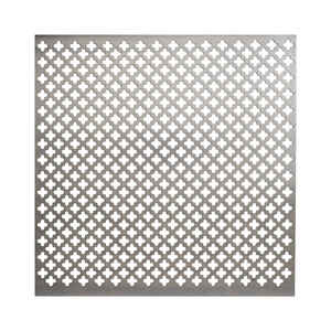 M-D Building Products  0.02 in.  x 1 ft. W x 1 ft. L Aluminum  Cloverleaf  Sheet Metal