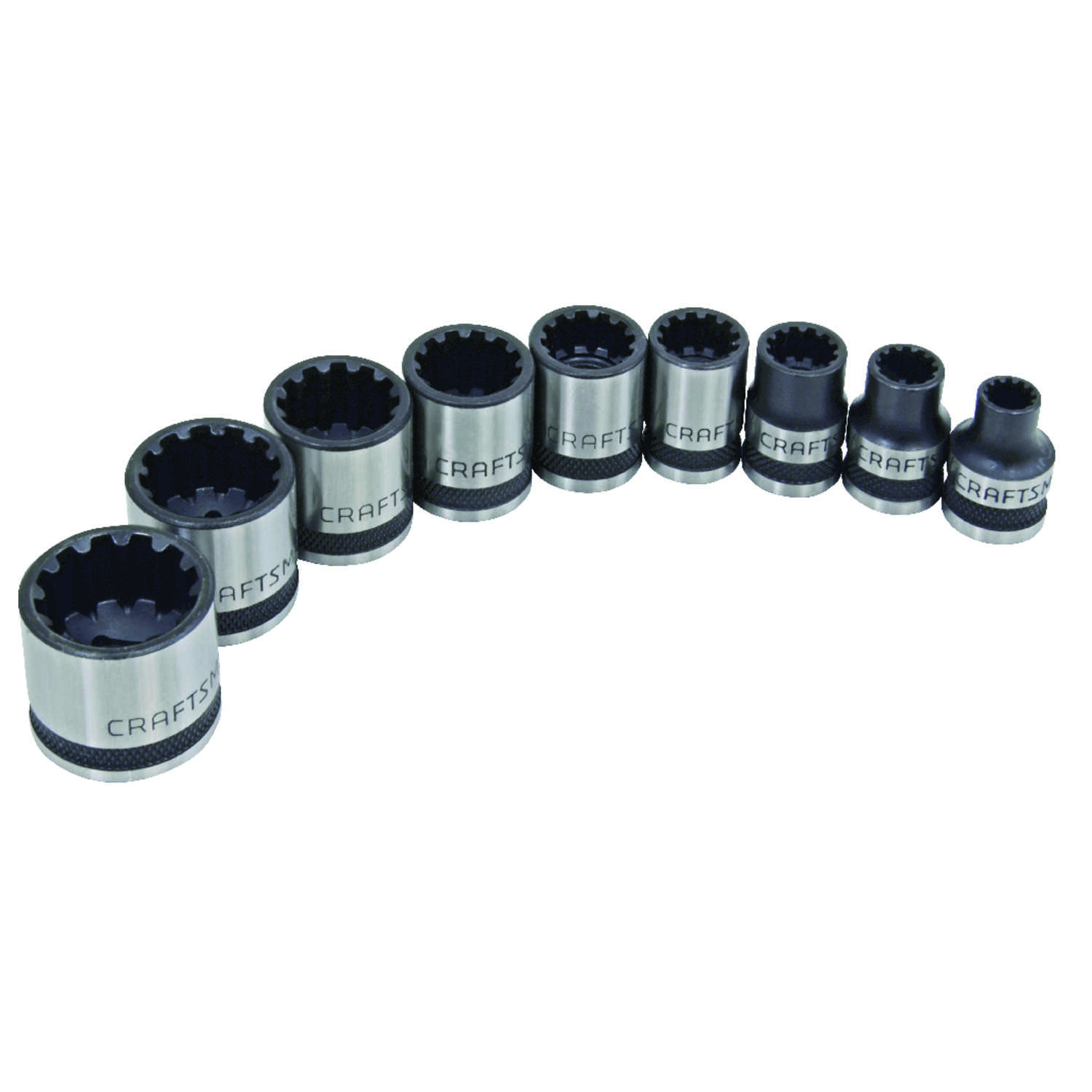 Craftsman  5/8 in.  x 3/8 in. drive  SAE  6 and 12 Point Standard  Universal Socket Set  9 pc.
