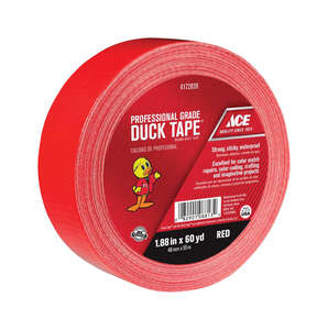 Ace  180 ft. L x 1.88 in. W Red  Duct Tape